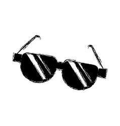 cartoon sunglasses acessory fashion optical image vector image vector image