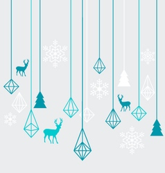 Geometric Christmas ornaments vector image vector image