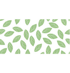 seamless leaves isolated vector image vector image