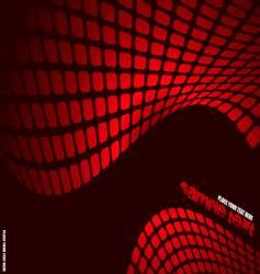 wavy mesh vector image vector image