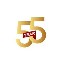55 years anniversary template design vector