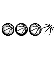a set basketballs with different designs vector image