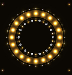 Abstract gold round circle vector