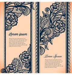 Abstract Lace Ribbon Vertical banners vector image