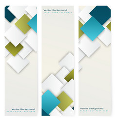 Abstract template vertical banner vector image