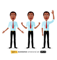 admiration business man waving her hand cried vector image