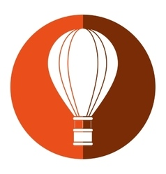 Airballoon travel recreation adventure orange vector
