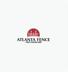 Atlanta fence logo template vector