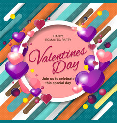 background for valentines day vector image
