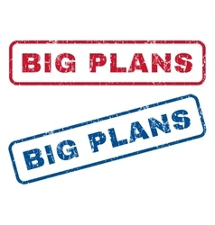 Big Plans Rubber Stamps vector image