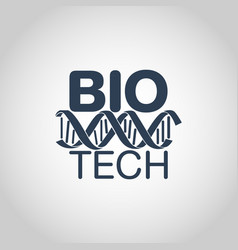 Biotechnology logo icon design vector