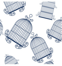 Birdcage background design vector