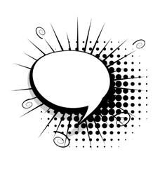 Blank template comic speech bubble vector image