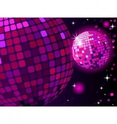 celebratory disco ball vector image