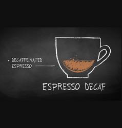 Chalk drawn sketch espresso decaf vector