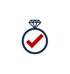 Check diamond logo icon design vector