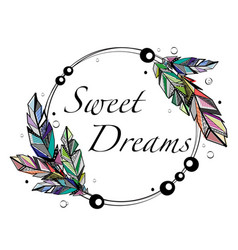 circle dreams frame vector image