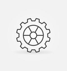 Cog wheel or gear linear concept icon or vector
