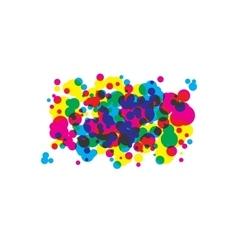 Colored blots cmyk vector