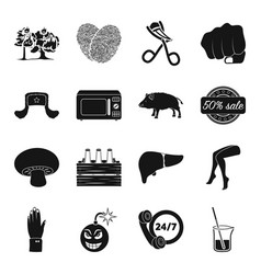 Crime hairdresser animal and other web icon in vector