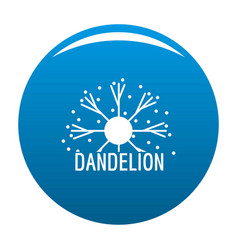 Dandelion logo icon blue vector