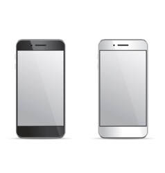 Empty screen smartphone templates on white vector image