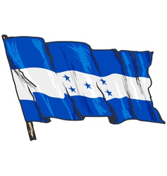 flag of Honduras vector image