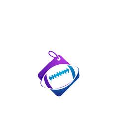 Football shop logo design template vector