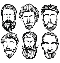 Gentlmen haircuts and shaves vector