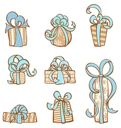 Gift icons set vector