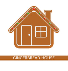 gingerbread house isolated on white vector image