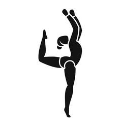 girl rhythmic gymnastics icon simple style vector image