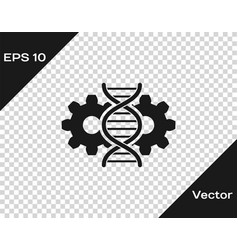Grey gene editing icon isolated on transparent vector