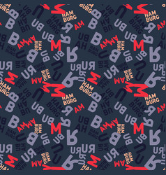 Hamburg creative pattern vector