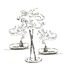 hand drawn of incense vector image