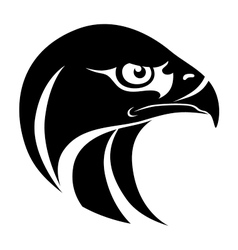 Hawk head symbol vector