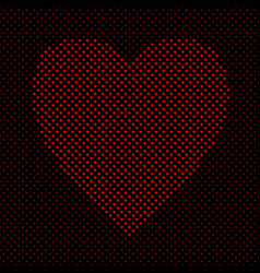 heart shaped pattern background graphic from red vector image