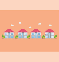 housing development flat design icon vector image