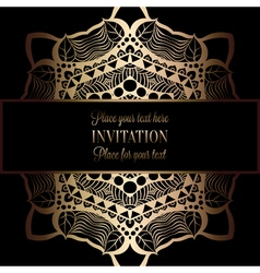 Invitation decorative golds 47 vector