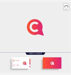 Letter c chat talk logo template design vector