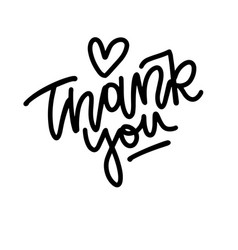 lettering thank you isolated on a white background vector image