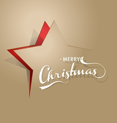 Light brown background with Christmas star and vector image