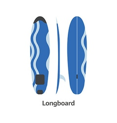 Longboard Surfing Desk vector image