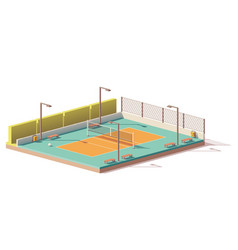 Low poly volleyball court vector
