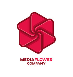 media flower logo vector image