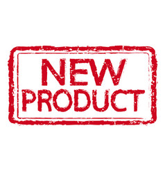 new product rubber stamp text vector image