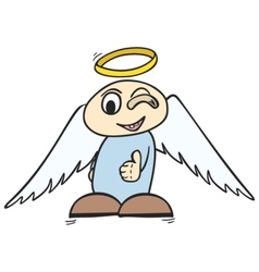 ok angel vector image
