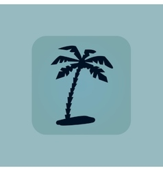 Pale blue vacation icon vector image