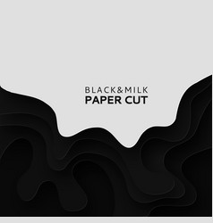 paper cut background with milk abstract soft vector image