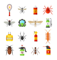 Pest control icons on white background vector